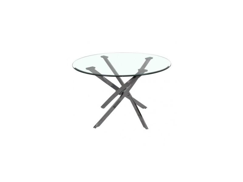 Table ronde pieds chromés dinamik 120 cm