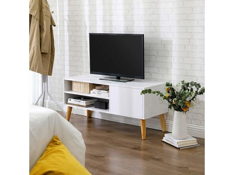 Vasagle Meuble Tv Buffet Bas Style Scandinave Pour