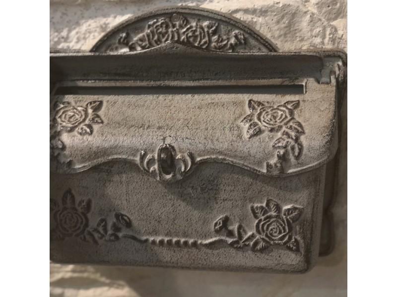 Style Ancienne Bo/îte aux Lettres Murale Bo/îte /à Lettre Fonte Marron 45 cm