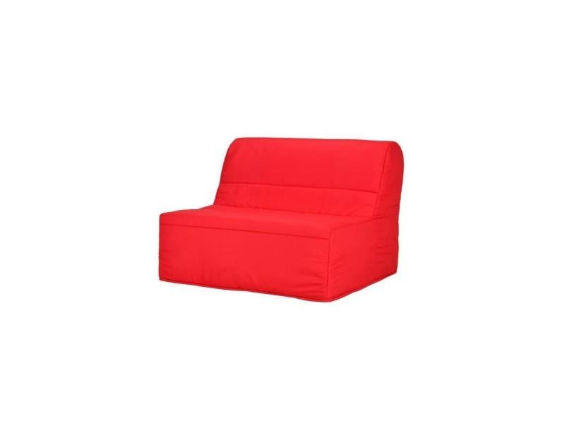 Eva Banquette Bz 120x190 Cm 2 Places Tissu Rouge L 122 X P 101 X P 95 Cm Evabzrouge Vente De Finlandek Conforama