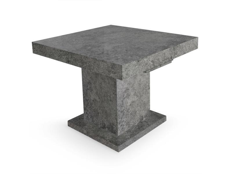 Béton Conforama Cotecosy De Mustang Table Extensible Effet Vente 7bf6gy