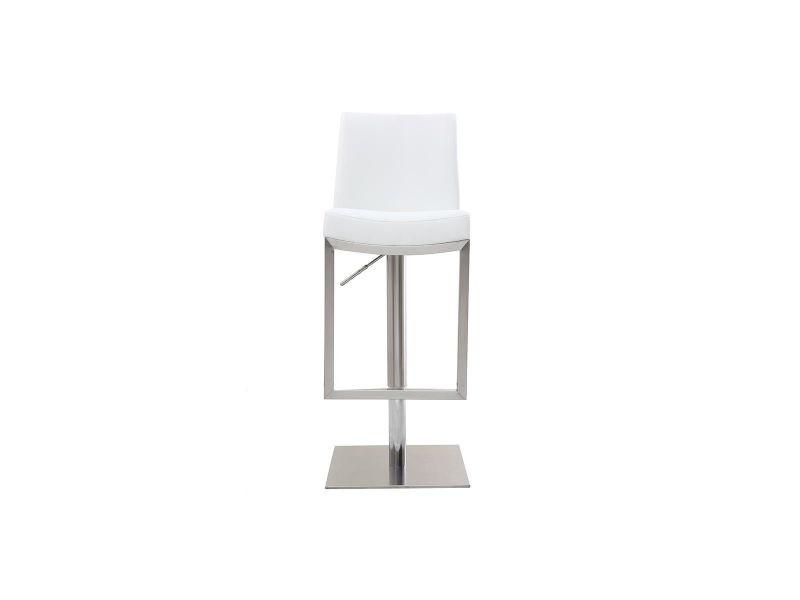 Tabouret de bar design blanc kyle
