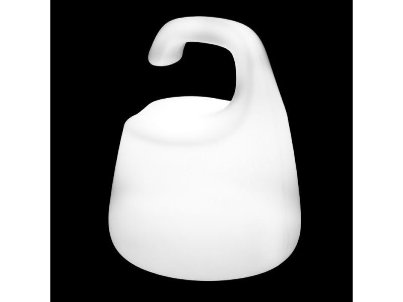 Lampe Led X Table 25cm Salto L 20 H Plastique 25 De En Blanc KuTclF1J35