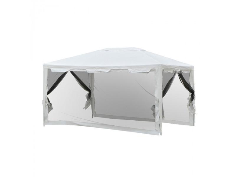 Tonnelle tente de réception avec moustiquaires party blanc ...