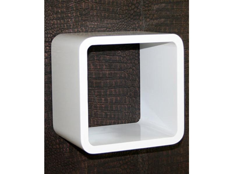 Étagère cube murale blanc -pegane-