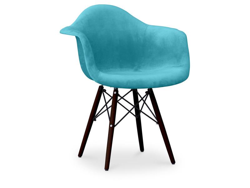 Foncé Piètemente Chaise Style Eames Turquoise Daw Charles LVUqSpzMG
