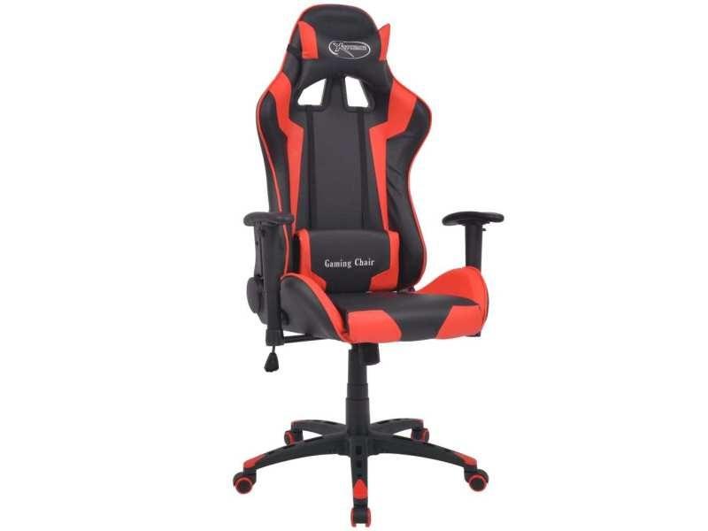 Vidaxl chaise de bureau inclinable cuir artificiel rouge vente