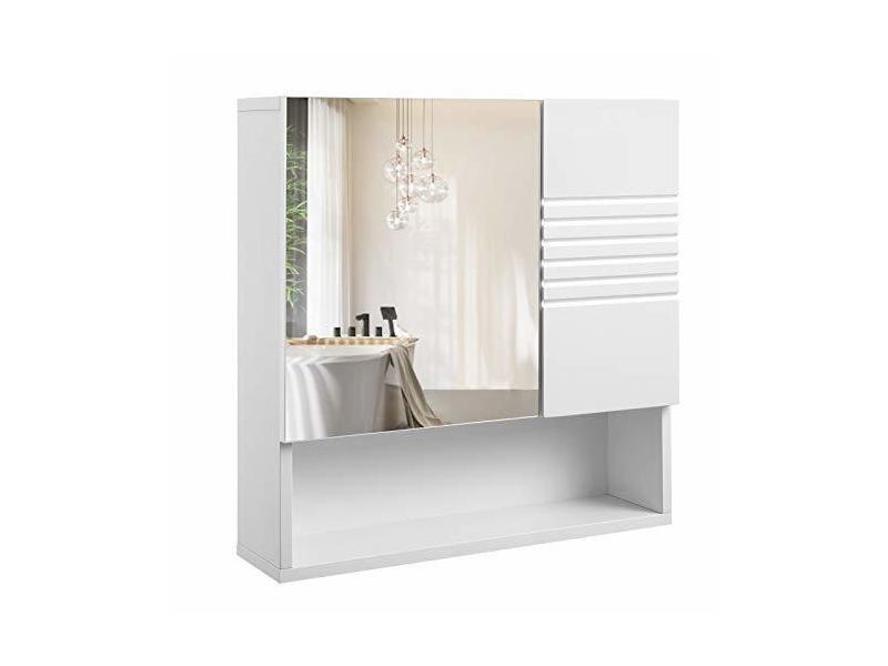 Meuble de salle de bain avec miroir meuble de rangement - Meuble de salle de bain mural ...