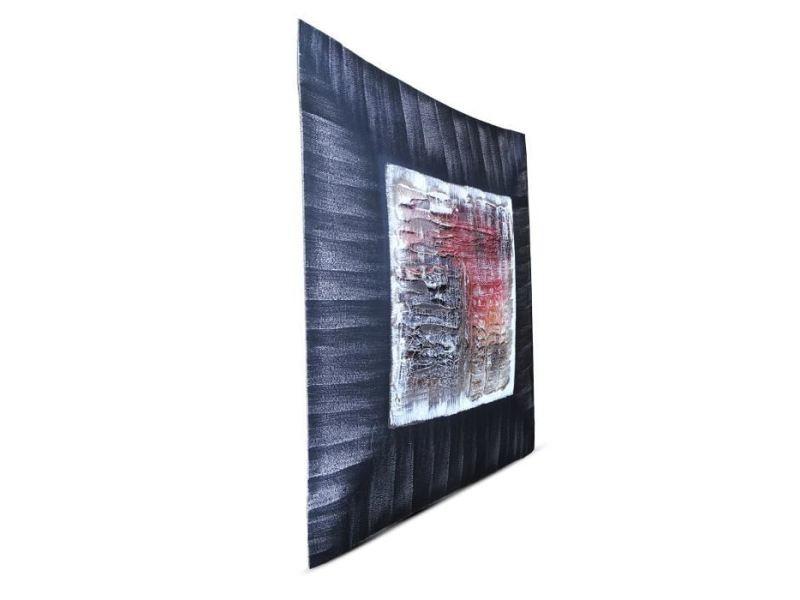 Tableau - toile abstrait tableau déco bombé toile peinte a ...