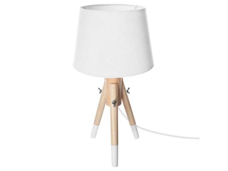 Miry Vente De Cm Trépied Lampe 46 Atmosphera H Blanc Bois 8PN0vmOynw