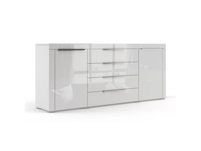 Buffet blanc mat façade laquée 167 cm