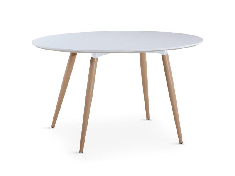 Table ovale scandinave sissi blanc - Vente de MENZZO - Conforama