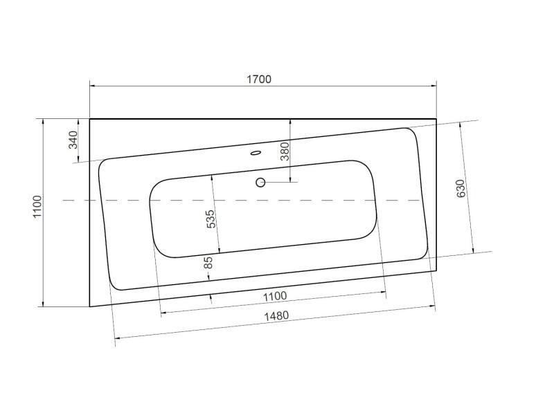 Baignoire Angle Droit Zianigo Avec Tablier Dimensions 170cm