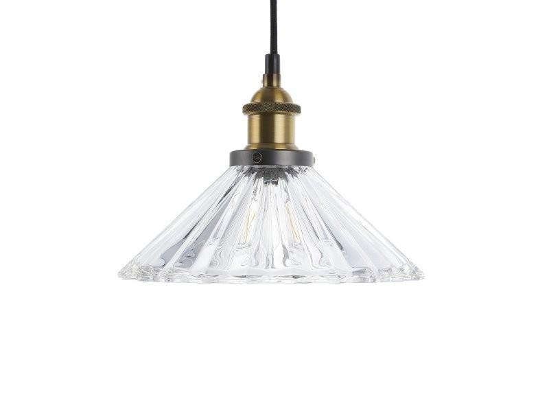 Colorado De Beliani Lampe Conforama Vente Verre En Suspension 84412 shQrtCdx