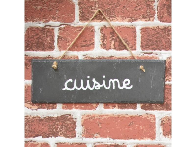 Grande Plaque De Porte Enseigne Cuisine Ardoise 30x10 Cm