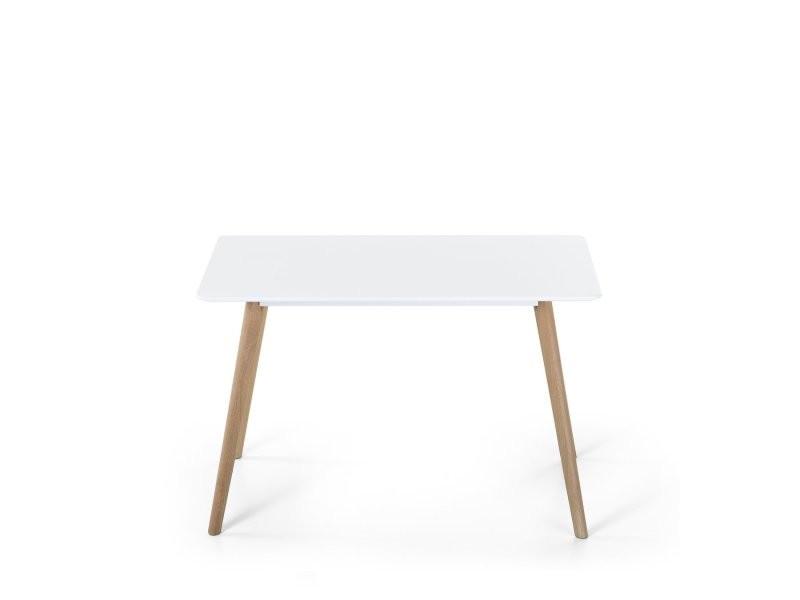 Table de salle à manger - table de cuisine - blanc - 120x80 cm - fly ii ...