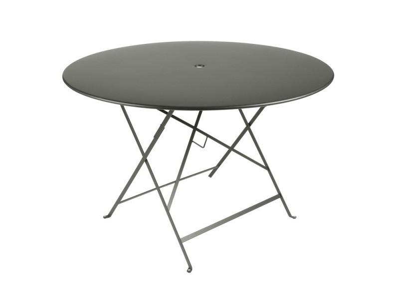 Table de jardin ronde pliante acier laqué bistro - Vente de Ensemble ...
