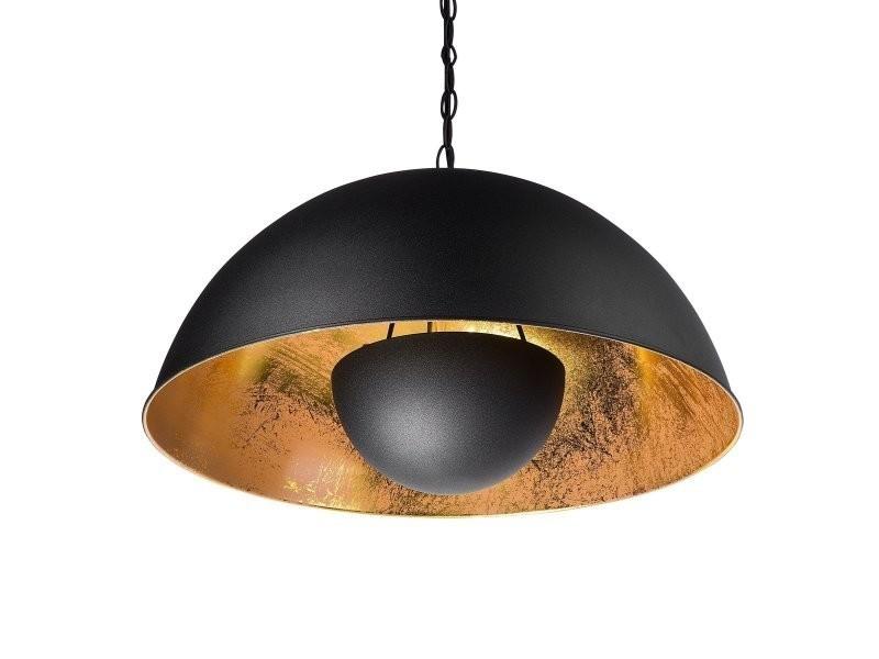 Noir Suspension Lampe De 73997 Beliani Ii Vente Thames Conforama hrsQtd