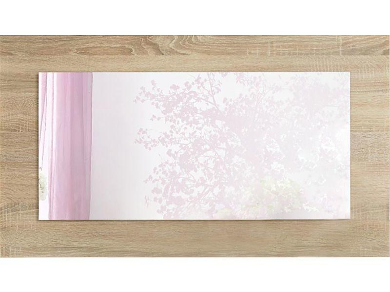 187d6341312779 Miroir mural 100 cm en panneaux de particules coloris chêne sonoma ...