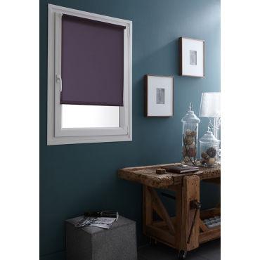 32 x 170cm(l x h) - store enrouleur tamisant uni sans percer - violet