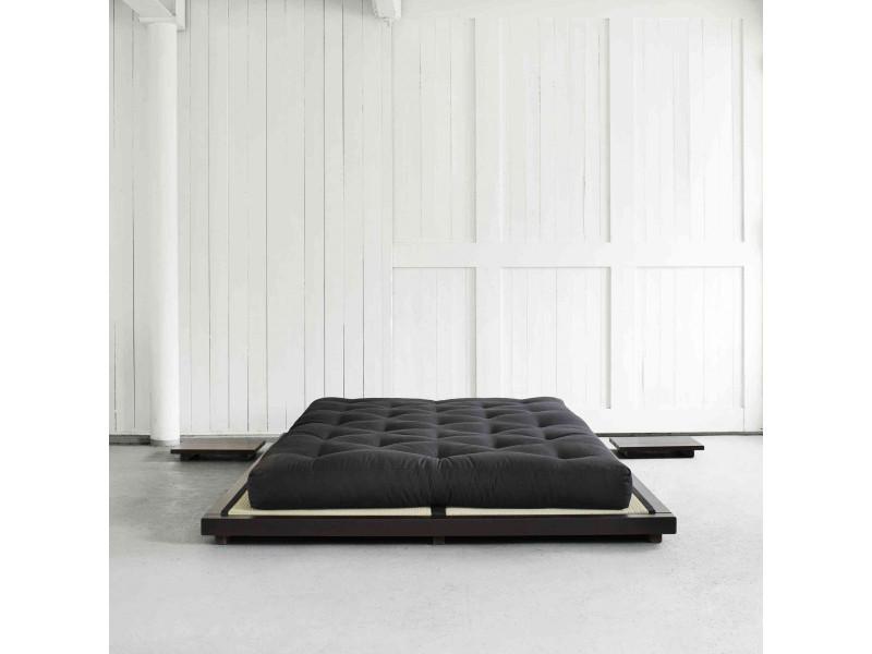 Lit futon style japonais en bois massif 180x200 - Vente de Lit ...