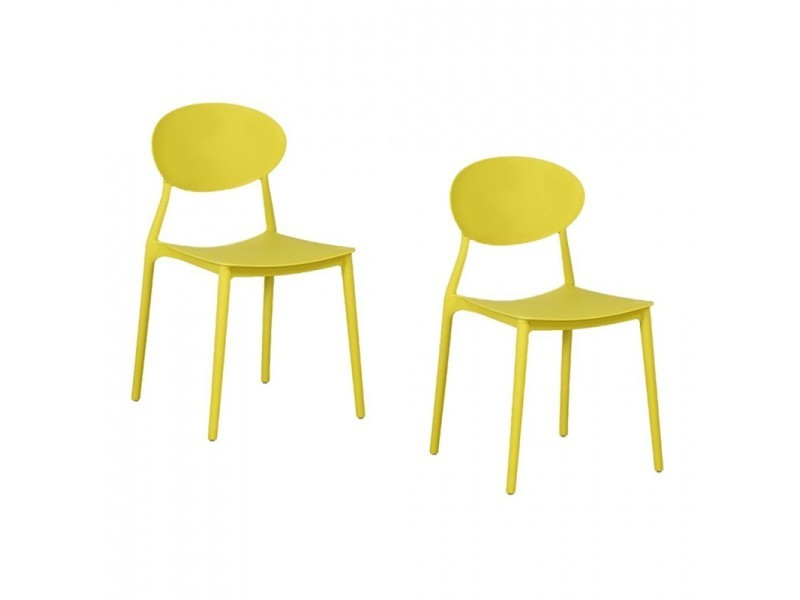 De 430135lot2 2 Mega Pp Lot En Vente Chaises Jaune Empilables 1lKcFJ