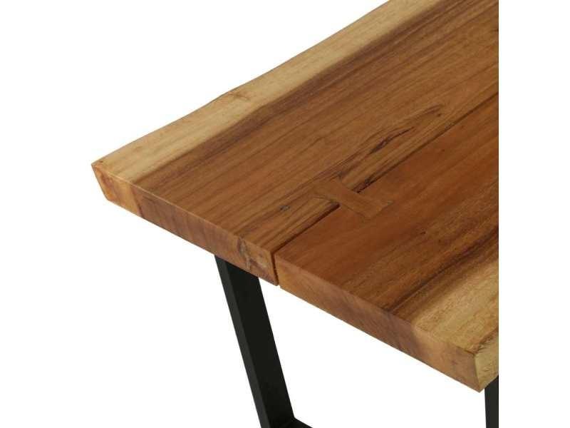 Vidaxl Table Basse Bois D Arbre A Pluie Massif 102 X 56 X 41