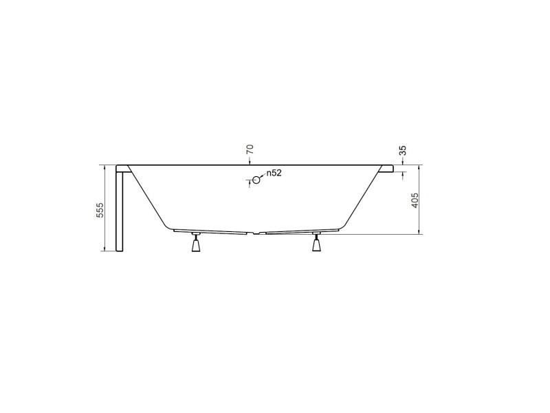 Baignoire Angle Gauche Zianigo Avec Tablier Dimensions 150 Cm