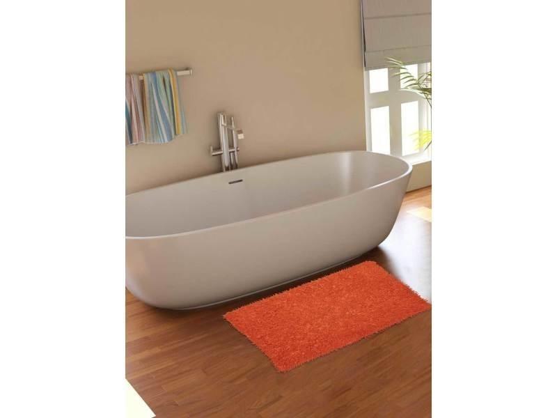 Tapis chambre tapis de salle de bains spaghetti orange 50 x ...