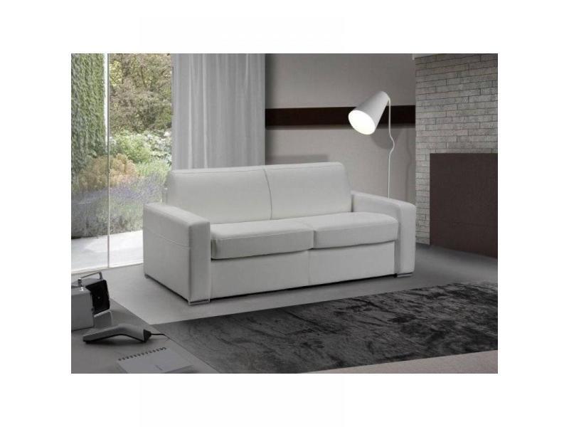 3 Places Cuir Rapido Blanc Cm 140 Master Lit Canapé Convertible WI9HDE2