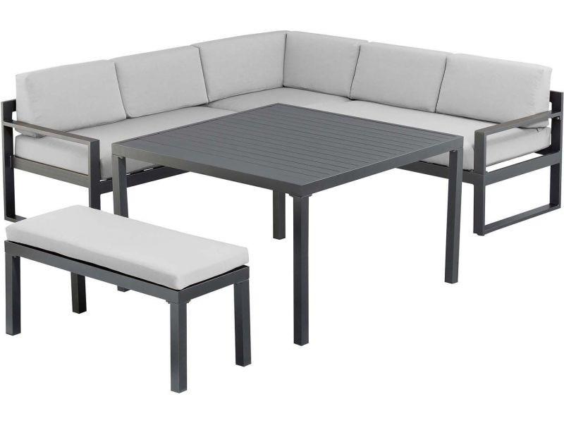 Salon de jardin repas en aluminium océan - Vente de KETTLER - Conforama