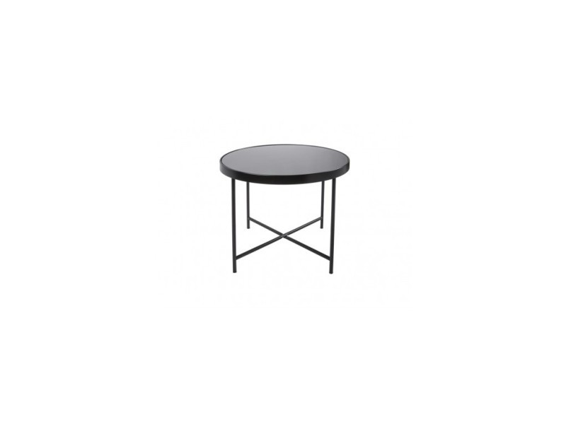 Table basse noir mat plateau en verre smooth