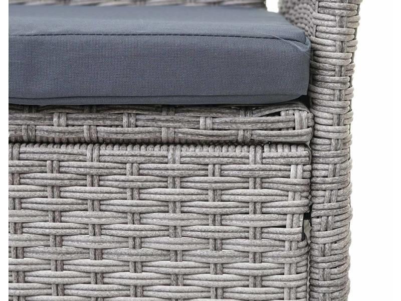 jardin e22 gris fauteuil polyrotinréglable 2x de ~ hwc en EHYeW92ID