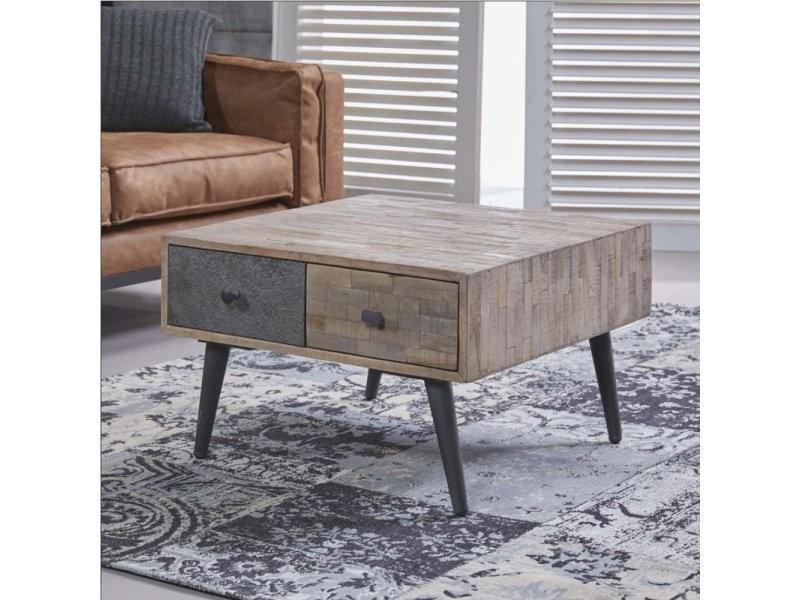 Table basse design industriel medusa en teck 20100877077