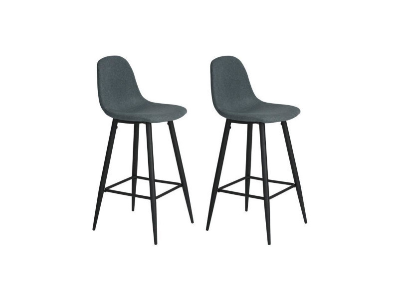 2 Chaises Lot Charlton De Métal High En Revetement Bar 29WIEDH