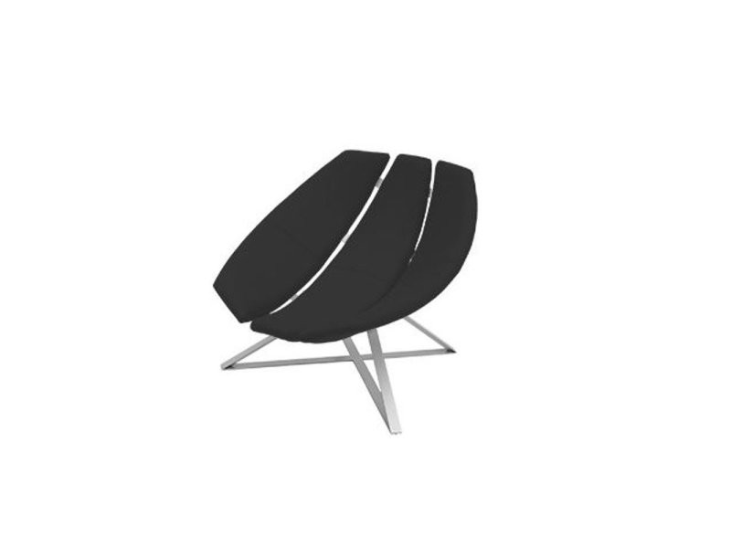 Fauteuil design radar rotatif en gris anthracite avec piétement aluminium softline 20100873963