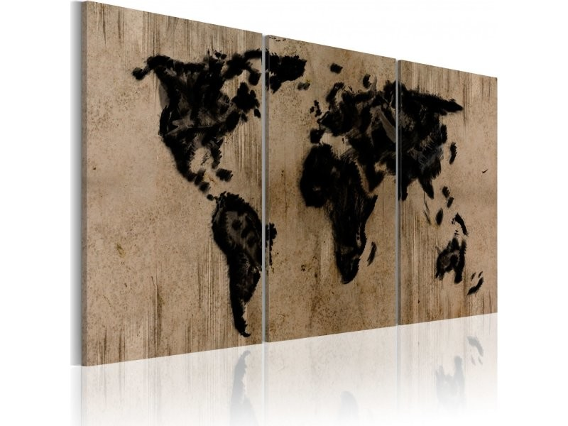 Conforama Carte Monde.Tableau Carte Du Monde En Encre A1 N2025pwd Vente De