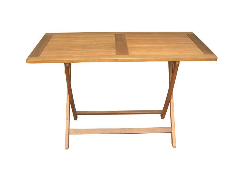 Table de jardin pliante forme rectangulaire en bois exotique ...
