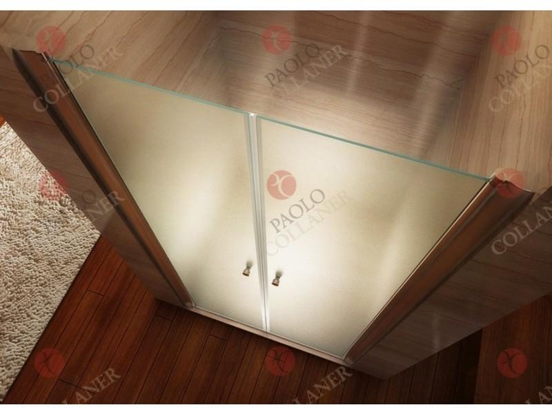 Porte de Douche 185 cm Largeur r/églable 80-84 cm D/époli-Opaque