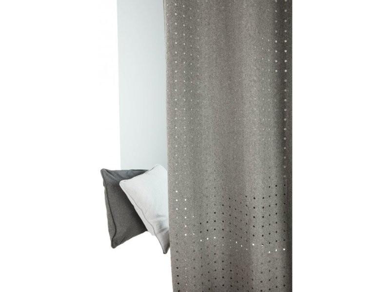 Rideau Contemporain 140 X 250 Cm A Oeillets Style Industriel Tissu