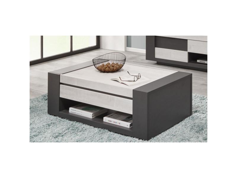 Table basse moderne chêne clair/graphite mikie