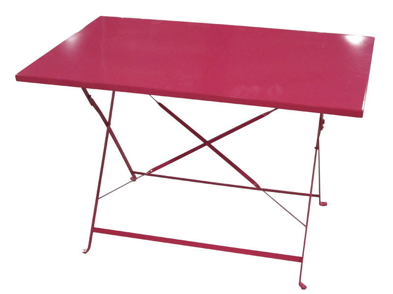 Table rectangulaire pliante 110x70cm camargue framboise