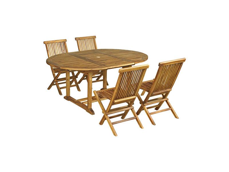 de Salon jardin huilé chaisespetit modèle en 4 teck baya 5RqA34jL