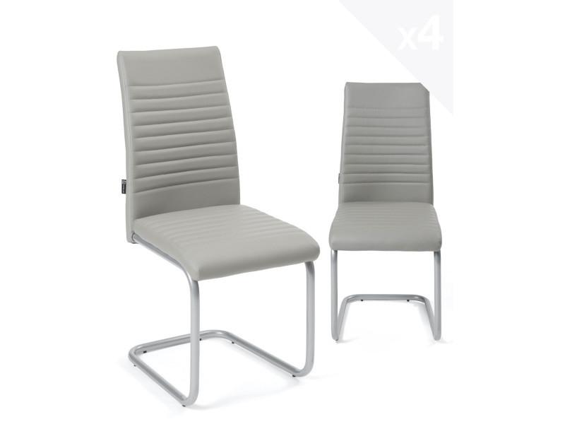 à chaises lot de 4 design manger Kayelles opusgris salle j35A4LR