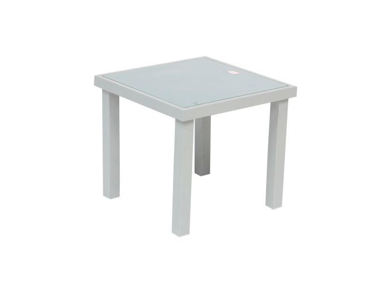 Table d\'appoint de jardin piazza - h. 36 cm - argent - Vente de Salon ...