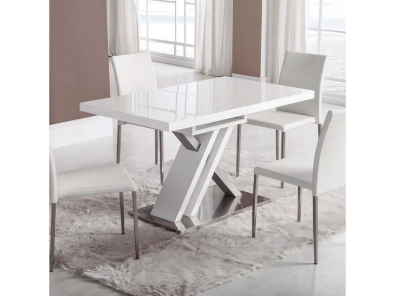 Table design xendart blanche 80 x 130/170cm par zendart sélection