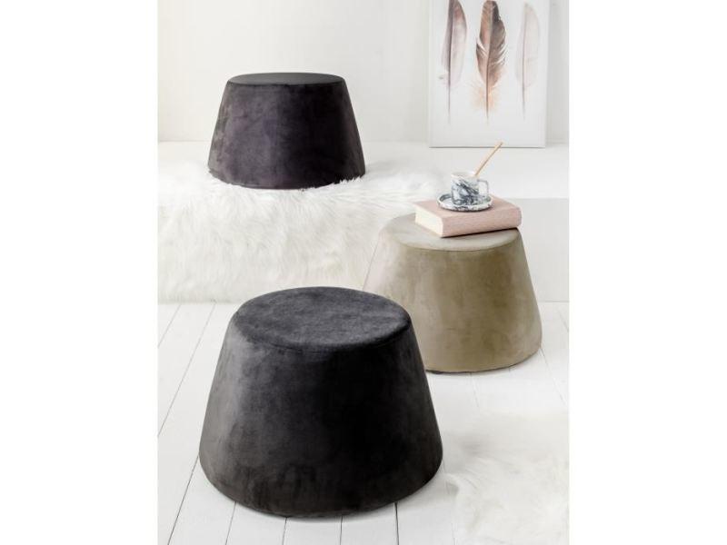 Pouf - poire pouf velours wasa sable h31,5 cm diametre 46,5 cm