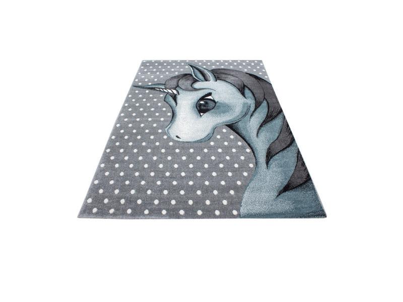 Tapis rectangle pour chambre de bébé licorne willis bleu ...