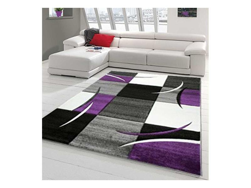 Tapis design et modern pour le salon diamond 665 blanc ...