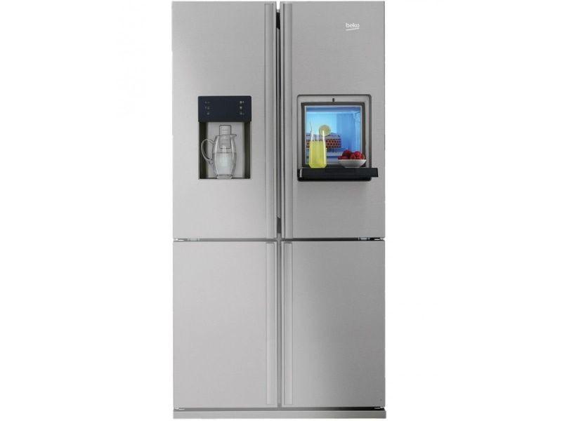 Beko Réfrigérateur Frigo Américain Us 4 Portes Inox 522l A